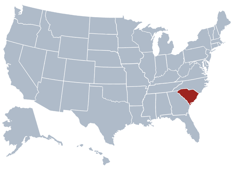 USA States Covered by Ovid Media Group- South Carolina