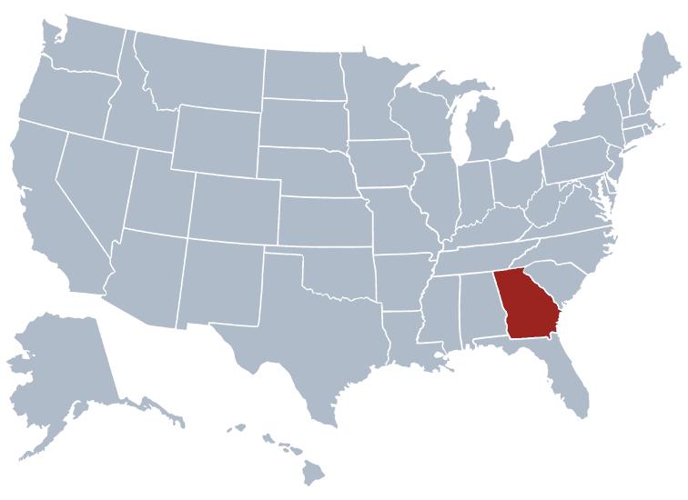 USA States Covered by Ovid Media Group-georgia