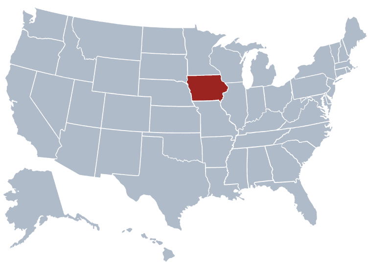 USA States Covered by Ovid Media Group-iowa