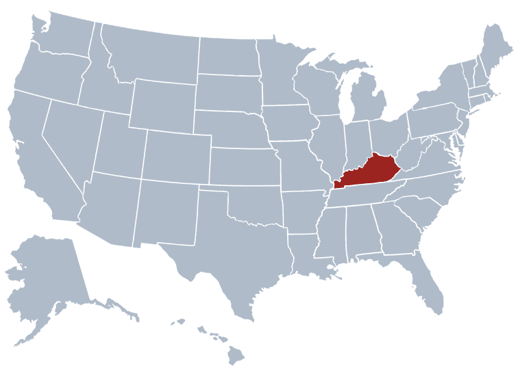 USA States Covered by Ovid Media Group-kentucky
