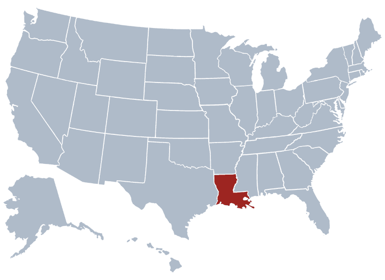 USA States Covered by Ovid Media Group-louisiana