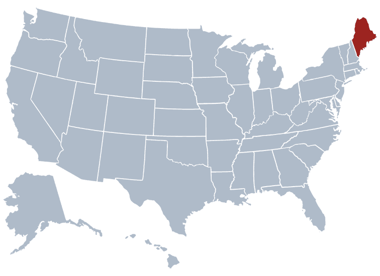 USA States Covered by Ovid Media Group-maine