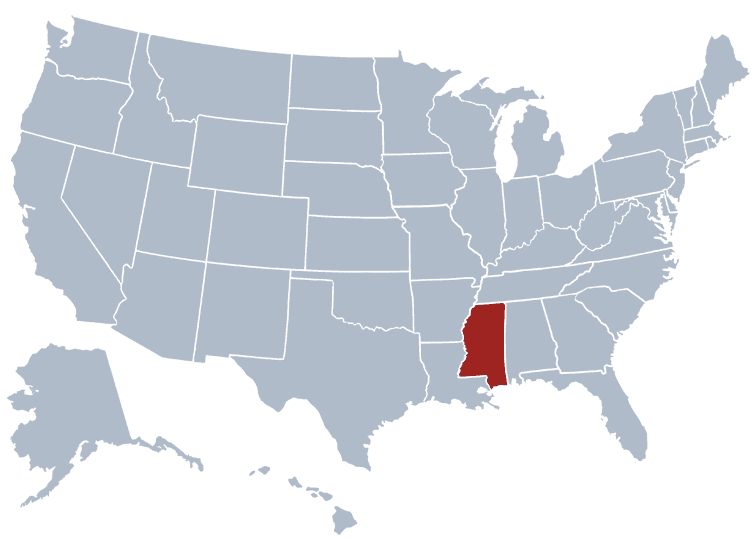 USA States Covered by Ovid Media Group-mississippi