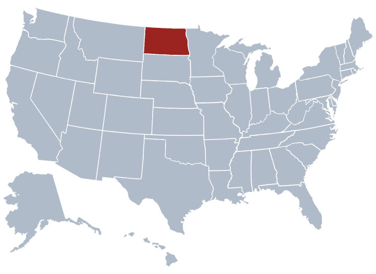 USA States Covered by Ovid Media Group-northdakota