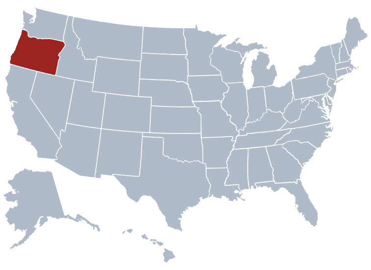 USA States Covered by Ovid Media Group-oregon